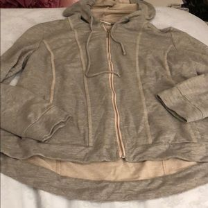 Women's Chico's size small gray full zip jacket